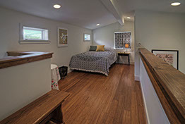 Frank's place Austin, short term rental. interior view of upstairs bedroom
